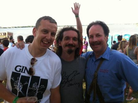 John Laffler of Off Color Brewing (center) and Dan Carey of New Glarus right)