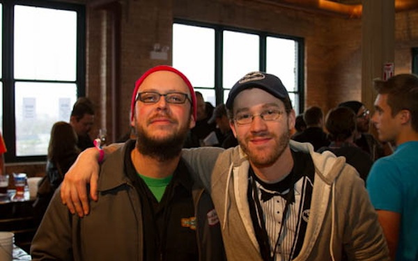 Rock Bottom Chicago (left) and Garrit (Pipeworks Brewing)