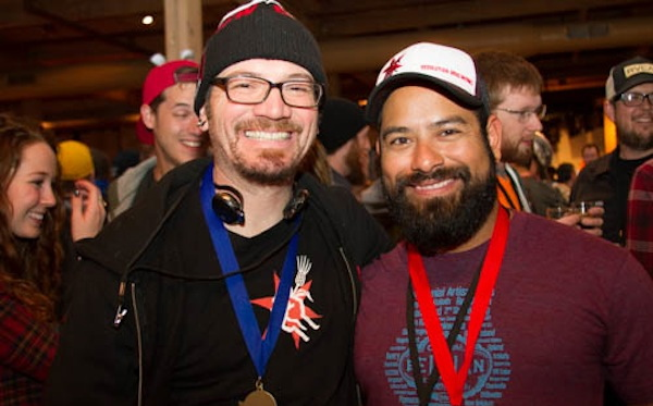 Will and Marco from Revolution Brewing