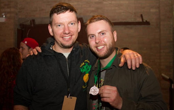Pete and Mike from Wild Onion Brewing. Bronze Medal Winners for Jack Stout