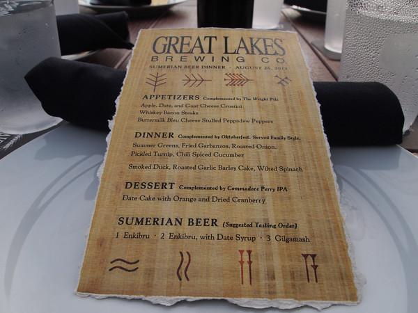 3 course dinner menu