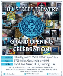18th Street Brewery Grand Opening Celebration @ 18th Street Brewery | Gary | Indiana | United States