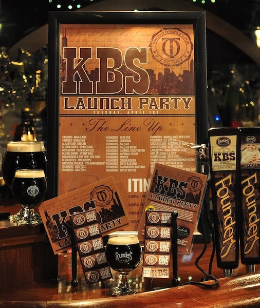 RateBeer's Top Beer In The World - Founders KBS made its 2014 debut recently at Timothy Otoole's Chicago