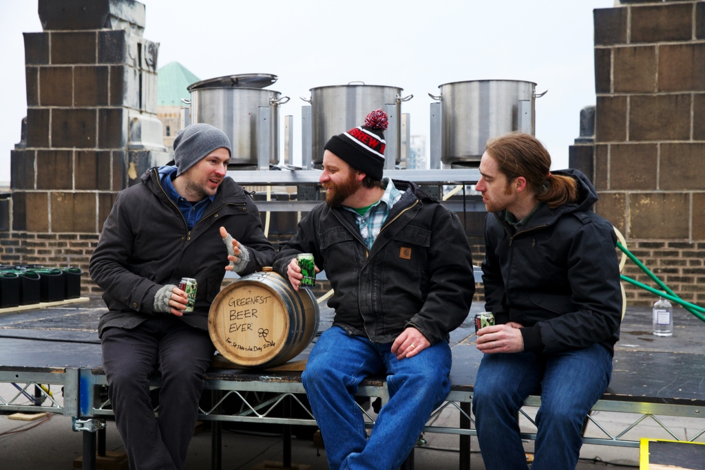 The BrewDogs with the Chairman of The Party! Revolution Brewing Founder -Josh Deth