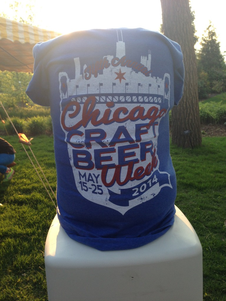 the Chicago Craft Beer Week tees in both Cubs and Sox colorways for 5$ was a nice touch