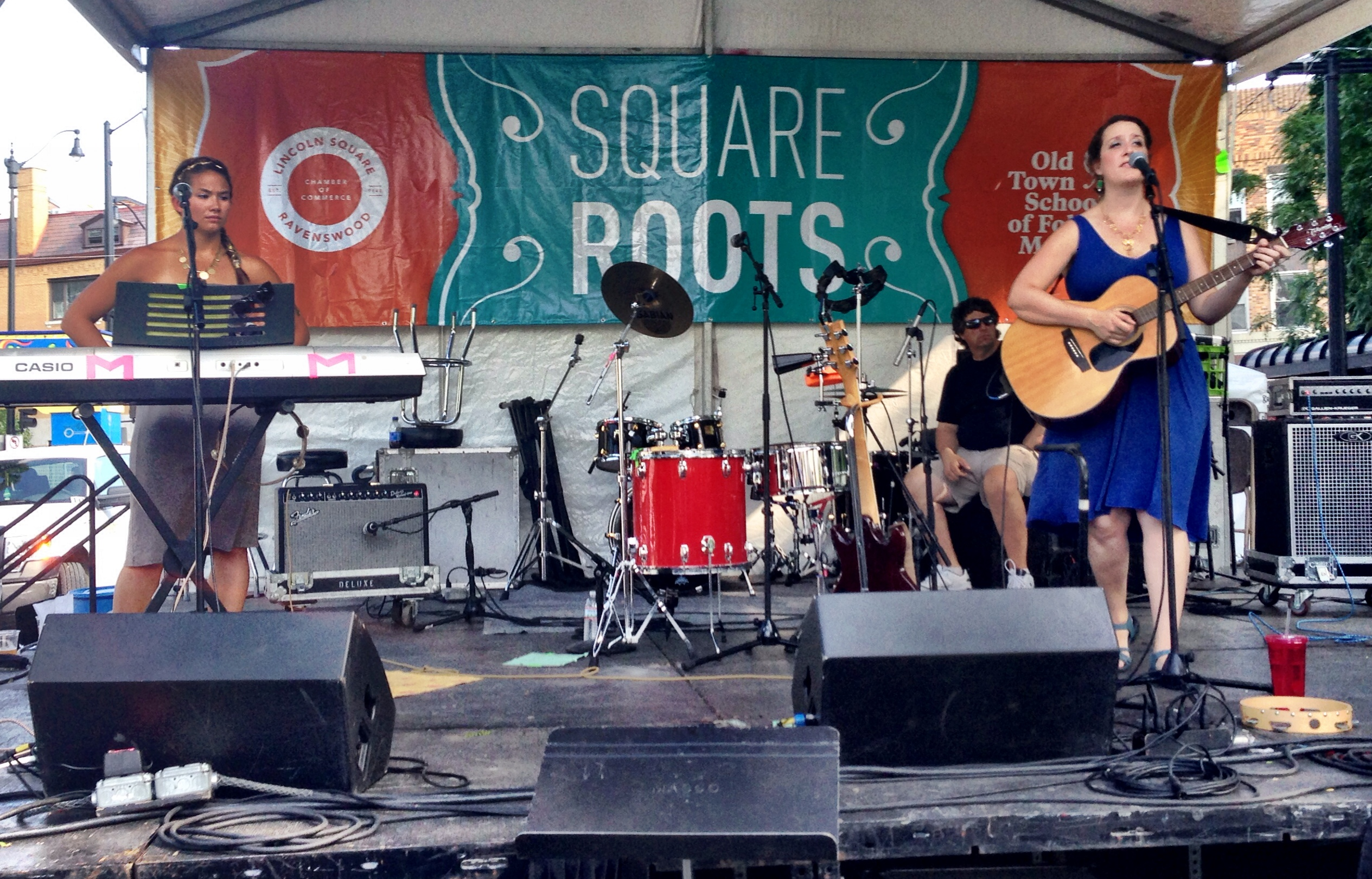 Midnight Moxie on the South Stage at Square Roots Festival 2014