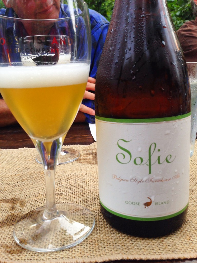 Goose island's Sofie uses Amarillo hops grown on Elk Mountain Farm