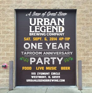 Urban Legend Taproom 1st Anniversary Block Party @ Urban Legend | Westmont | Illinois | United States
