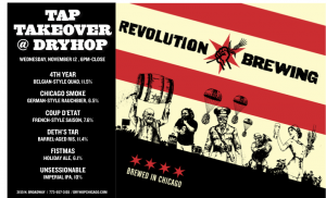 Revolution Tap Takeover @ Dryhop Brewers | Chicago | Illinois | United States
