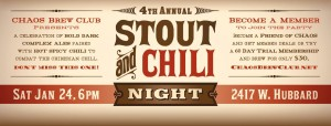 4th Annual Chaos Stout and Chilli Night @ CHAOS Brew Club
