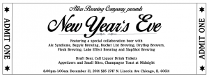 Atlas Brewing Co. Presents New Years Eve @ Atlas Brewing Company | Chicago | Illinois | United States