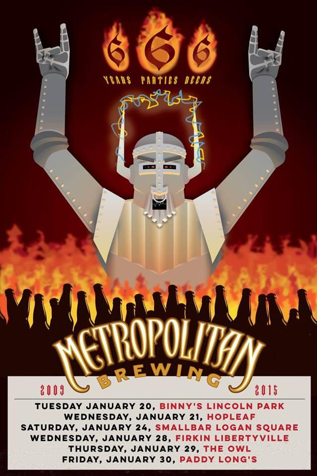 Metropolitan Brewing 666 Anniversary Party