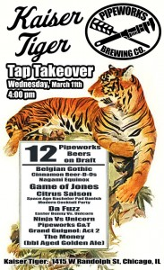 Pipeworks Tap Takeover @ Kaiser Tiger | Chicago | Illinois | United States