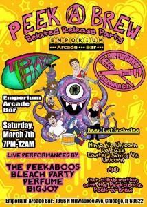Peek A Brew Release Party @ Emporium Arcade Bar