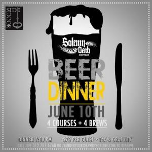 Solemn Oath Beer Dinner @ SideDoor Chicago