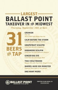 Ballast Point Tap Takeover @ Villains Chicago | Chicago | Illinois | United States