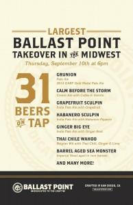 Ballast Point Tap Takeover @ Villains Chicago | Chicago | Illinois | United States