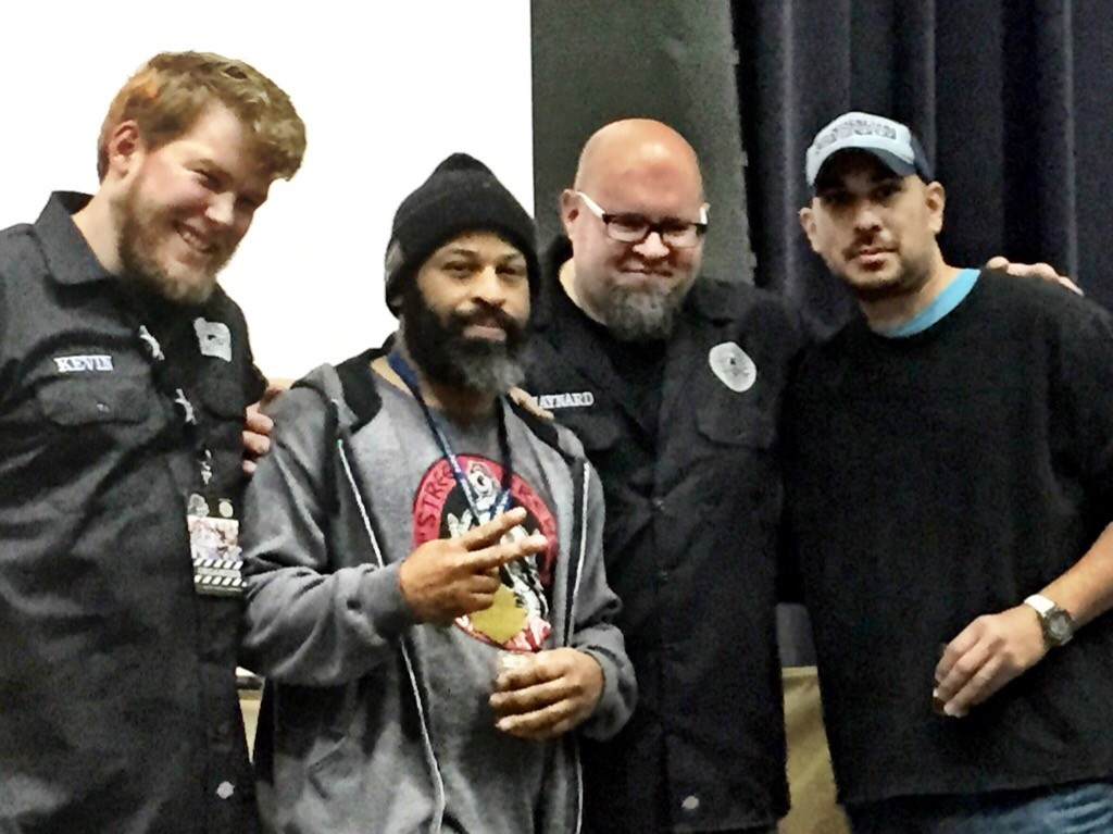 Drew Fox + Richard Mendoza (hats) execepting Gold for the 18th Street/ Penrose collab Sour 18 at FOBAB