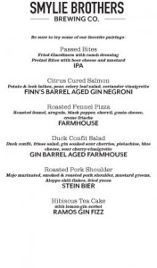 Chicago Distilling Beer Dinner @ Smylie Bros Restaurant and Brewery | Evanston | Illinois | United States