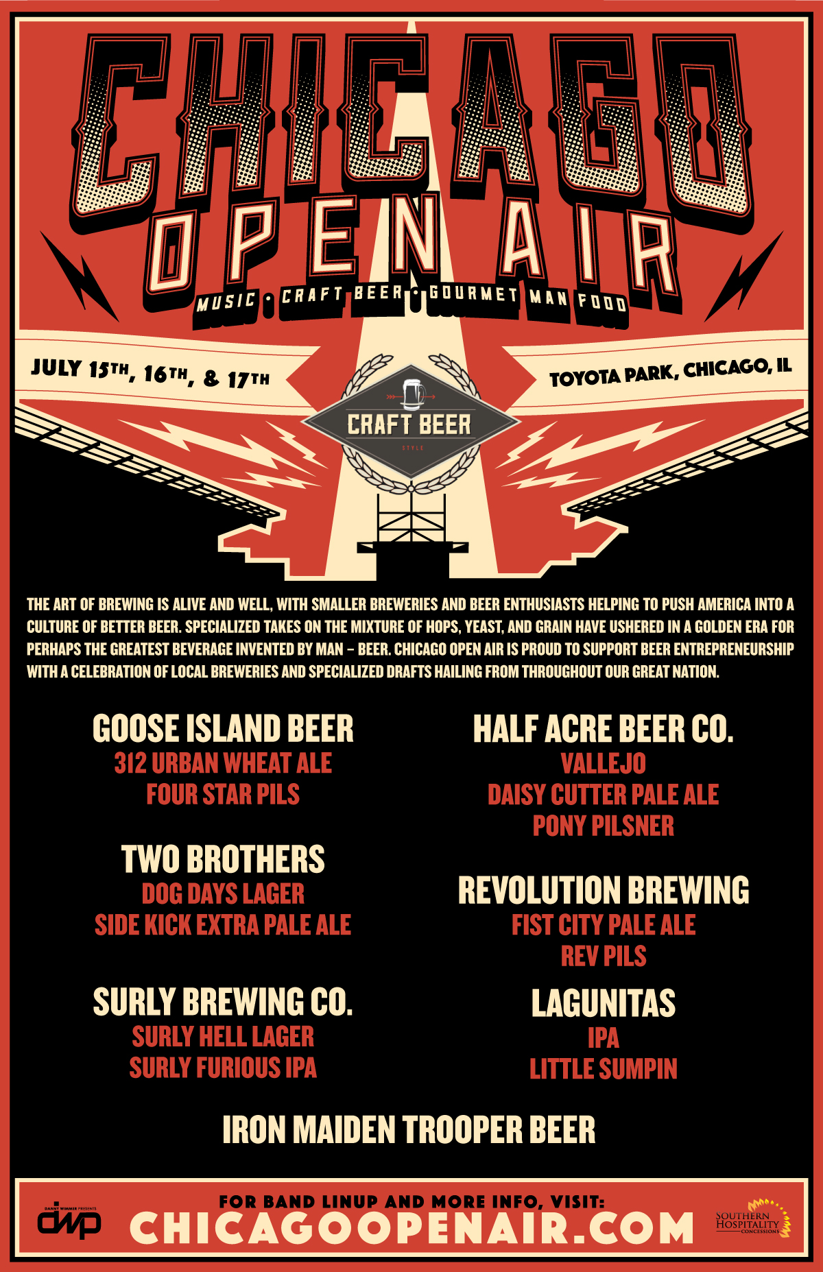 Chicago Open Air Beer Graphic